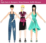 6bb- Style Pack 2 - Rompers, Wrap Dresses, Ruffle Blouse, Jumpsuits, Bodysuits Templates. Electronic Download Item. Will Be Emailed to you after purchase.